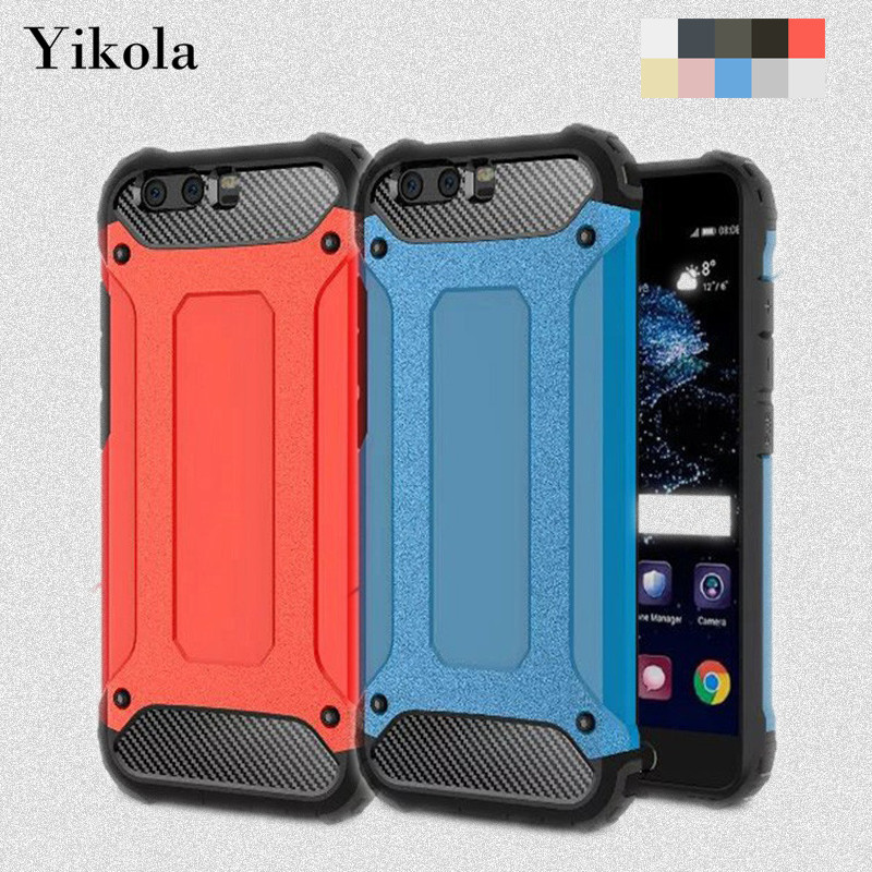 10pcs Ultra Thin 2 in 1 Shockproof Hard Case For Huawei Hornor 8 6X P10 Lite Plus 6S MATE 9 Robot Armor Phone Case PC TPU Cover