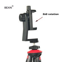 купить BEXIN Tripod Mount Adapter Cell Phone Clipper Vertical Bracket Smartphone Clip Holder 360 Rotate for iPhone Samsung Xiaomi в интернет-магазине