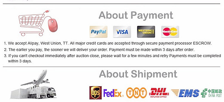 payment & shippment