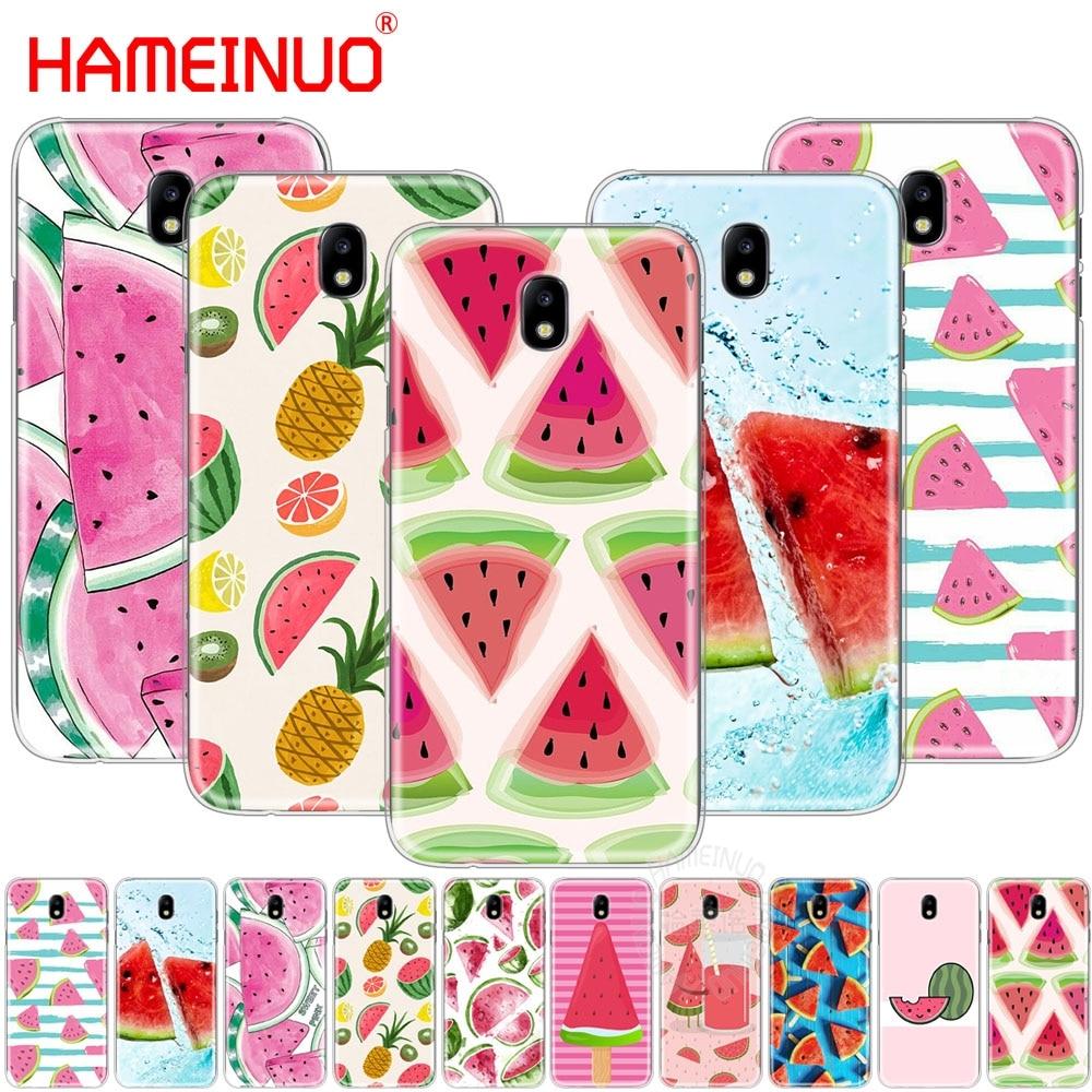 HAMEINUO Watermelon Melon cover font b phone b font case for Samsung Galaxy J3 J5 J7