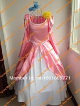 The Little Mermaid Heroine Princess Ariel Custom Ball Gowns Cosplay Costume Pink Dress