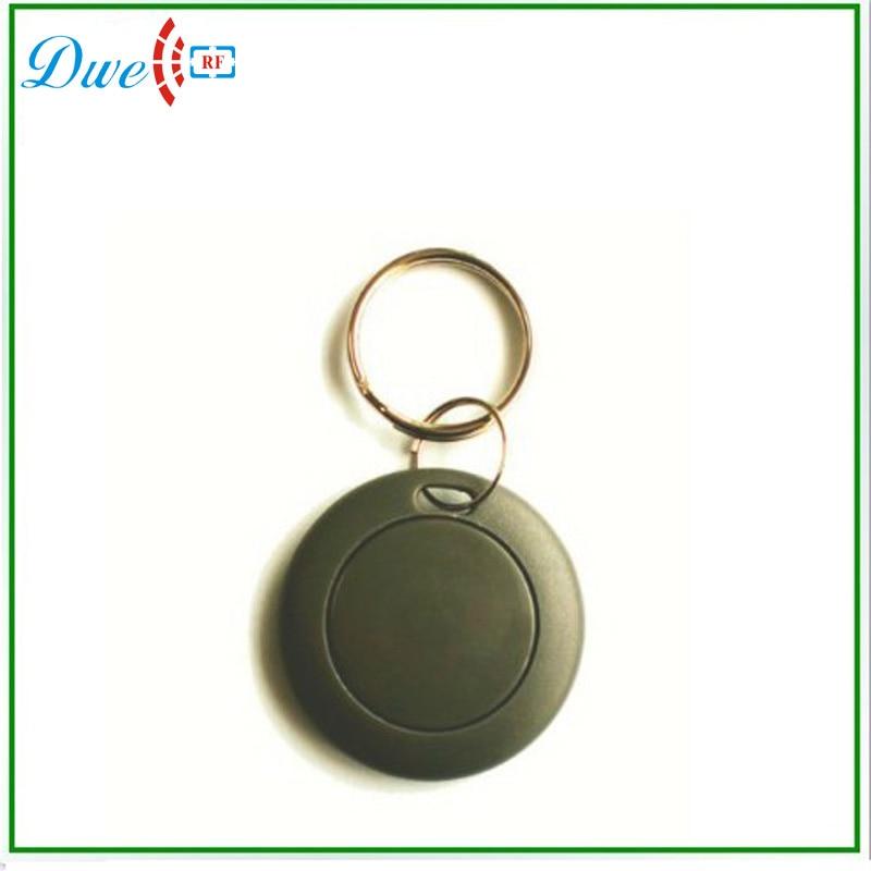 DWE CC RF 13.56mhz rfid tag round shape black color fobs