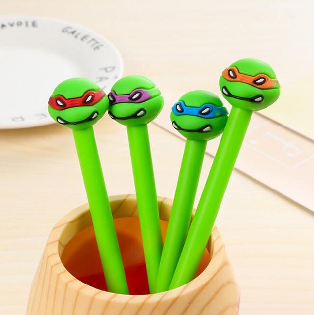 4 pcs/lot Teenage Mutant Ninja Turtles Gel Pen Ink Marker Pen School Office Supply Escolar Papelaria