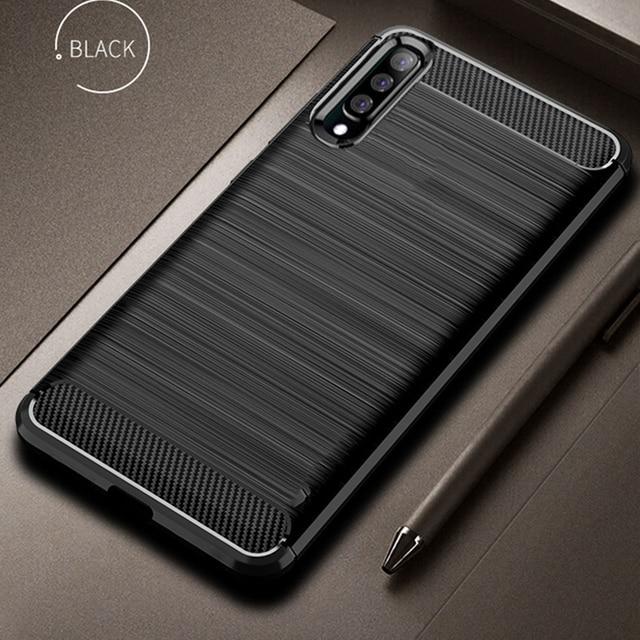 Чехол из углеродного волокна для Samsung Galaxy A70, противоударный чехол для телефона Samsung A50, A70s, A, 70 s, гибкий чехол бампер