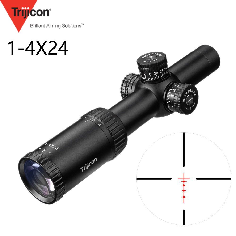 1 4X24 Reticle Tactical Riflescope With Target Turrets Hunting Scopes For Sniper Rifle 2019 New Arrival
