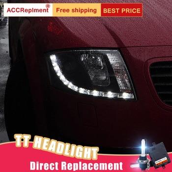 Audi Tt Scheinwerfer | 2 Pcs LED Scheinwerfer Für Audi TT 1999-2006 Led Auto Lichter Engel Augen Xenon HID KIT Nebel Lichter LED Tagfahrlicht
