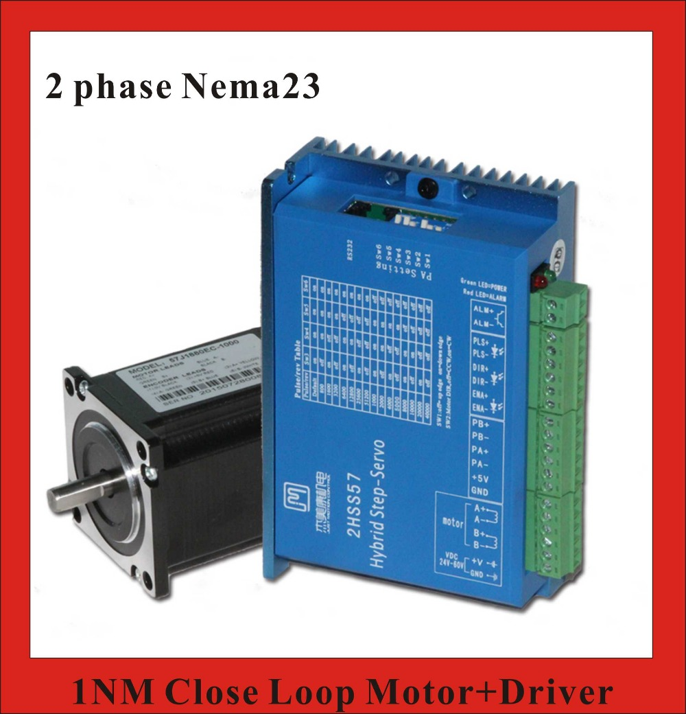 2 Phase NEMA23 2NM Closed Loop Stepper Servo Motor Driver Kit for CNC Machine polar loop 2 pink