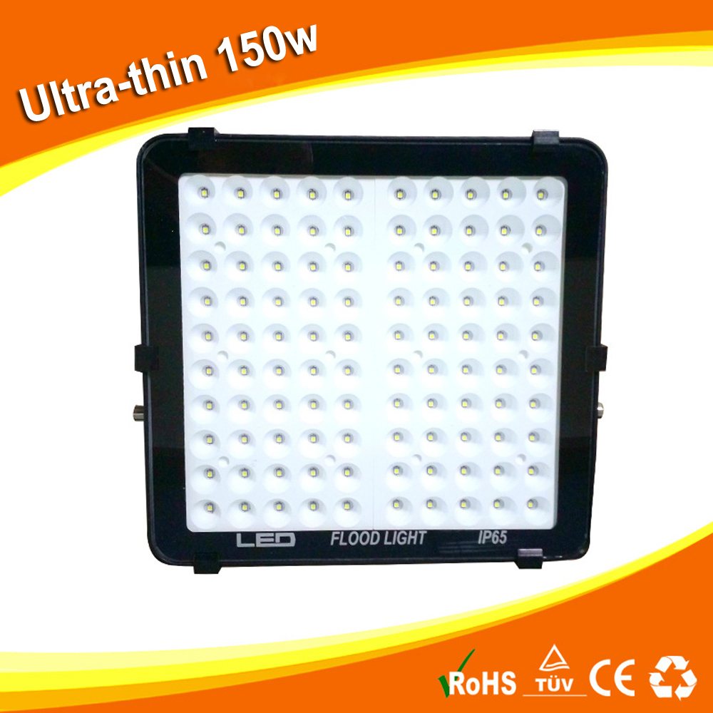 2pcs 85-265V 6000K cool white Ultra-thin LED 100W floodlight street white IP65 Waterproof 220V 110V Spotlight Outdoor Lighting