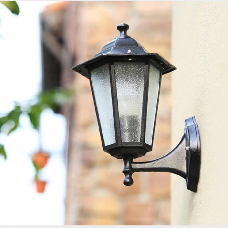 1pcs X 220v E27 aluminum waterproof IP44 outdoor LED wall light led outdoor garden light 20w projecting porch light without bulb