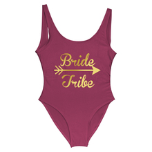 Bride Tribe Women One Piece Swimsuit Cupid's Arrow Love Bride Bathing Suits Bride Wedding Honeymoon Beachwear Bachelorette Party