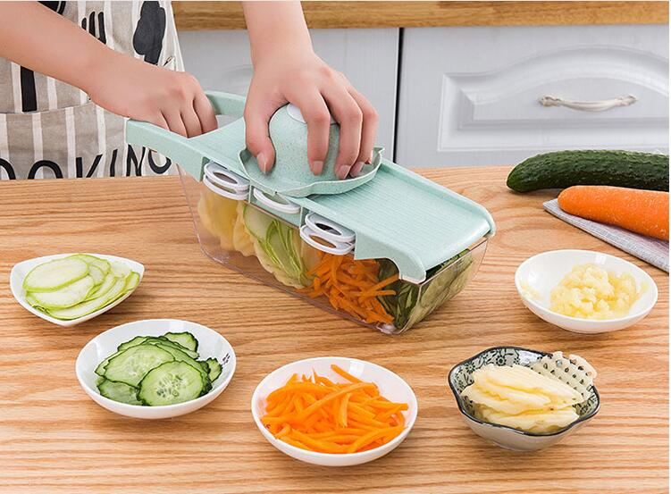 1PC Creative Slicer Vegetable Cutter Wheat Straw Grater With Stainless Steel Blade Multifunctional Potato Dicer LF 262 in Graters from Home Garden