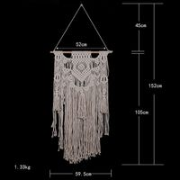 Handmade Macrame Tassel Wall Hanging Art Woven Tapestry Boho Home Room Decor