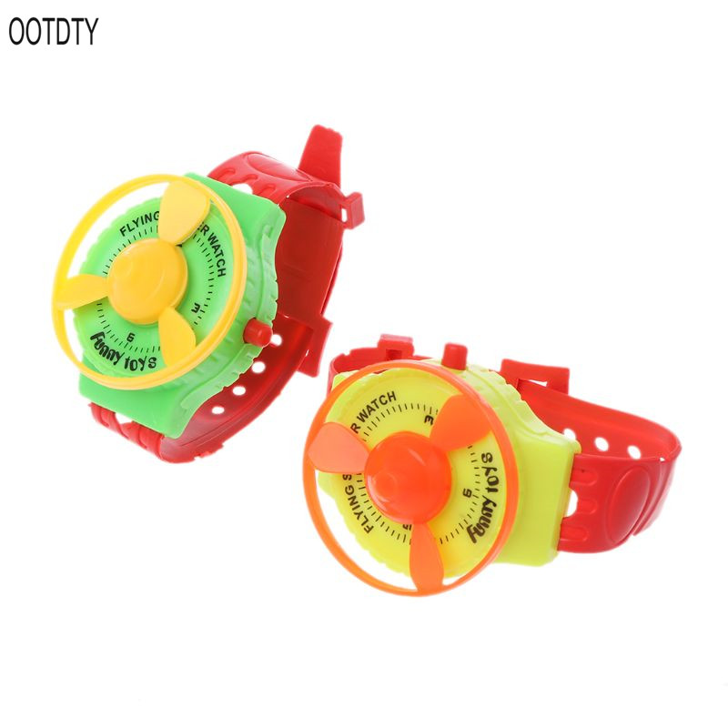 OOTDTY Funny UFO Flying Saucer Disc Watch Party Favors Kids Toys Wind Up Gadget Gift