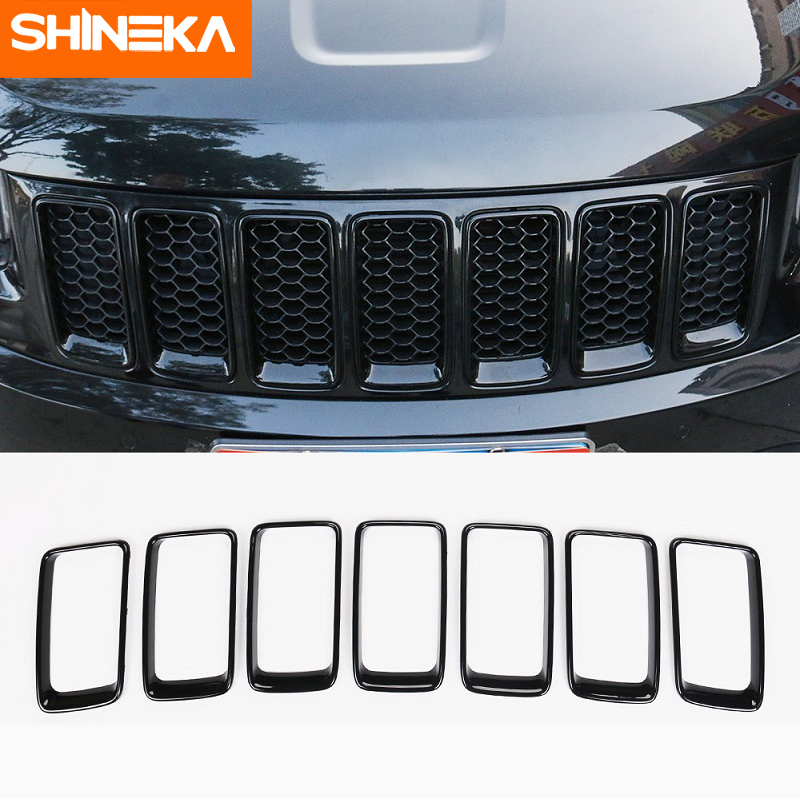 SHINEKA Car Sticker For Jeep Grand Cherokee Front Grille Decorative Cover Original Models For Grand Cherokee