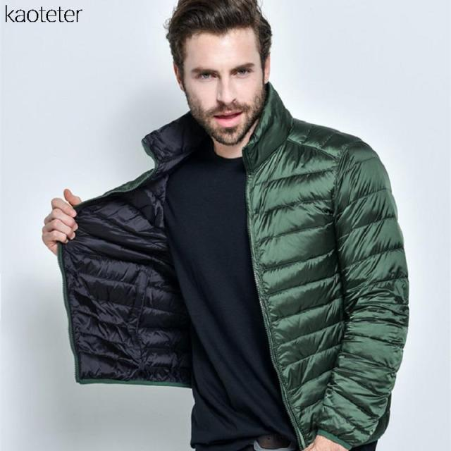 2016 Men's Clothing Autumn Winter Double Side Duck Down Jacket Men Coat Outwear Men Warm Two Color Side Jackets Coats XXXXL