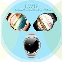 2017 Горячие Bluetooth Smart часы телефон KW18 SIM и карты памяти сердечного ритма SmartWatch носимых приложение для IOS Android mp3