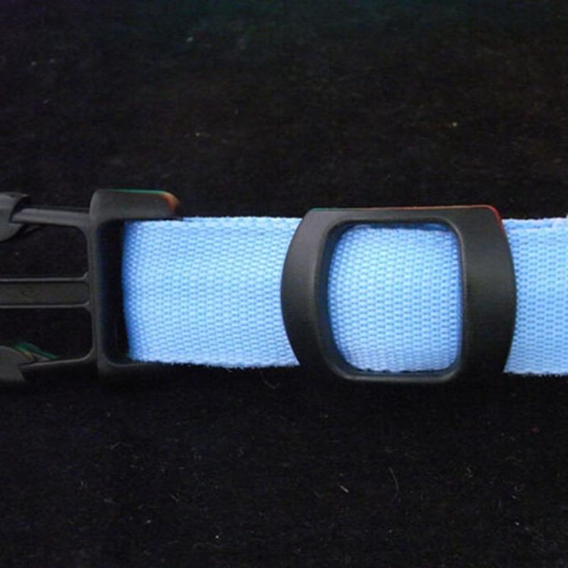 Собака ночь Детская безопасность воротник LED Light-Up размеры S, M, L светодиод нейлона Pet мигающий Glow Лидер продаж