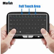 2.4 ГГц Беспроводной полный тачпад Клавиатура H18 Air Мыши TV Дистанционное управление Мыши для Окна ПК Android ТВ коробка Коди HTPC Google pad