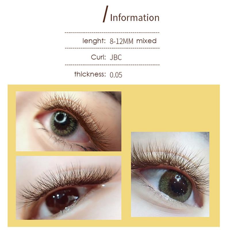 d08ba0b0fd8 Individual Eyelashes brown eyelashes extension,Mink lashes Extensions light Natural  Fake Eyelash premade volume fans volume lash-in False Eyelashes from ...