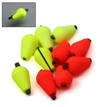 Maximumcatch  20pcs Tear Drop Indicator Fishing Float 14.4*9.9mm/19.2*11.68mm Yellow/Red Color  Fly Fishing Strike Indicator