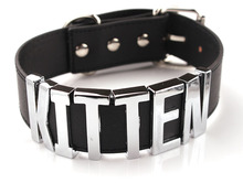 Kitten Choker Woman Choker Necklace Black Big Letters Punk Style Collar Kitten Necklace Collar Cats Jewelry