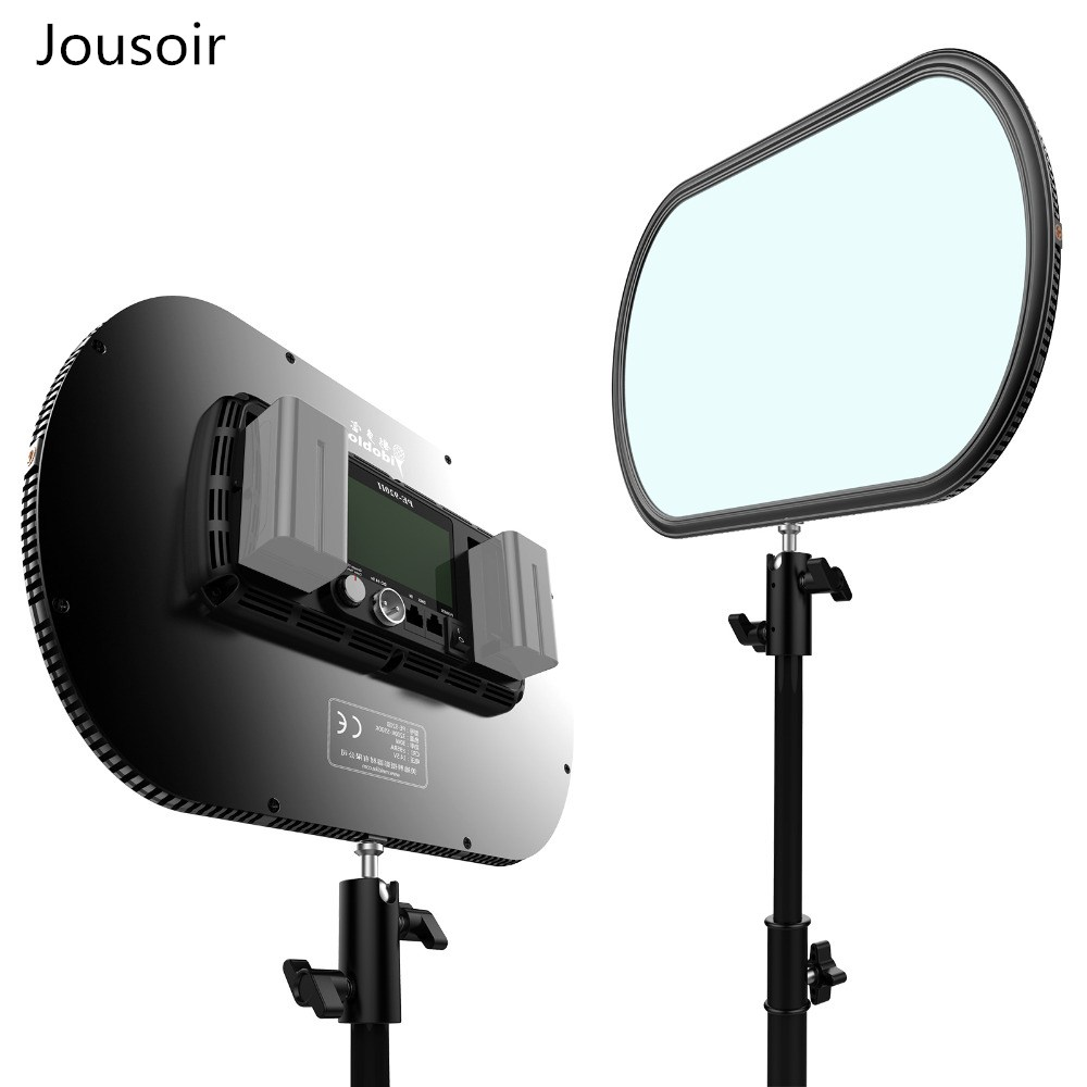 Idoblo PE-920II 2 couleurs Ultra Mince Continue Souple LED Photographie Éclairage Panneau 2.4g Sans Fil Télécommande Studio Lampe CD50