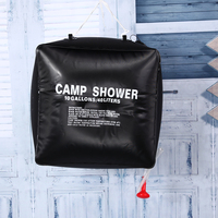40L Outdoor Camping Shower Bag Foldable Solar Energy Heated Camp Water Bag Travel Hiking Climbing BBQ Picnic PVC Water Storage