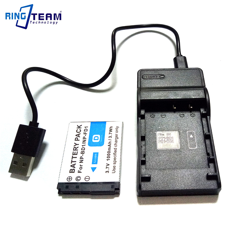 Batería NP-FD1 NPFD1 NP-BD1 NPBD1 para Sony Cybershot Cyber-shot DSC-T500