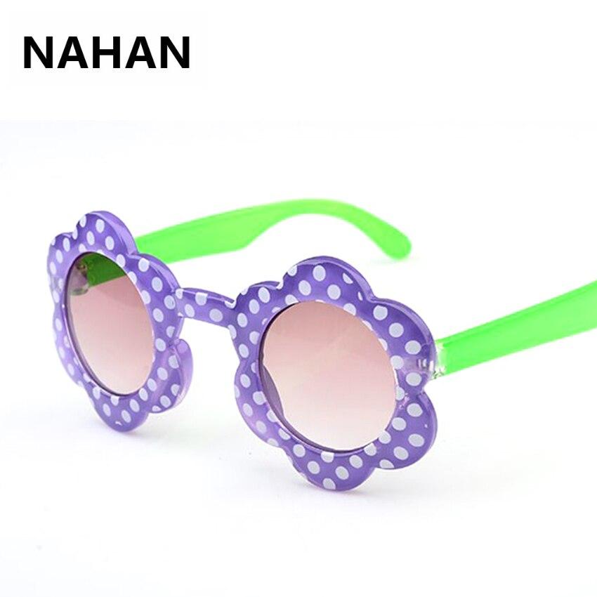 Подсолнух Форма круглые очки дети милые девушки Градиент прекрасный солнцезащитные  очки 100% UV400 высокое качество детские солнцезащитные оч. 52fab4bf52c