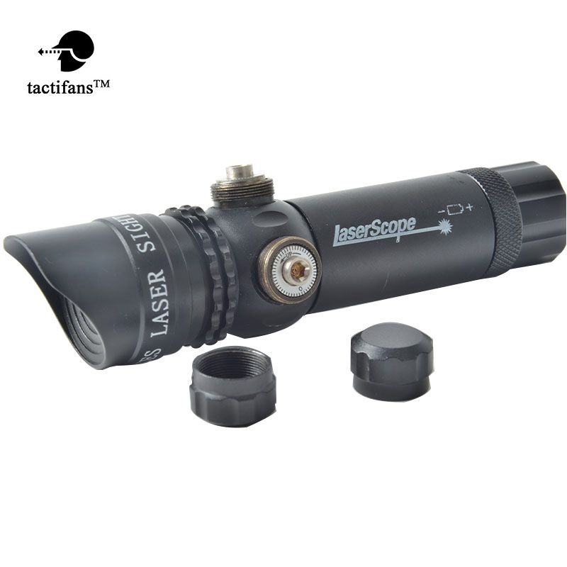 TACTIFANS Emitter Airsoft Rifle Gun Laser Scope Long Distance With Tail Line Switch 5mW Red Green Laser Sight Scope Designator