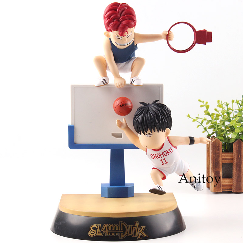 Slam Dunk Shohoku Hanamichi Sakuragi Rukawa Kaede Slamdunk Action Figure PVC Collection Model Toys Gifts anime slam dunk akagi takenori action figure pvc classic collection toy model garage kit doll