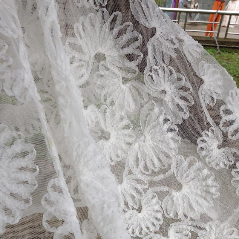 3D Elbise için Afrika Şifon Örgü Dantel Kumaş, 1 Yard 90 * 130 - Sanat, el sanatları ve dikiş - Fotoğraf 3