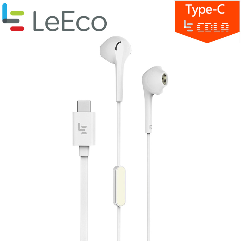 Original Letv Earphone Type-C LeEco Le CDLA In Ear Earphone Dual rear HiFi Chip Inbedded Continual Digital Lossless Audio Mic