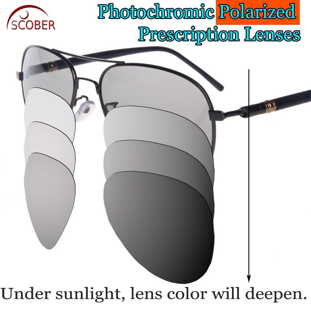 Photochromic GRAY Polarized Prescription sunglasses Custom Made Myopia Minus Prescription Lens -1 -1.5 -2 -2.5 -3 -3.5 -4 TO -6