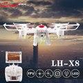 Envío libre LH-X8DV RC Quadcopter 2.4 GHz 4CH 6-Axis Helicóptero 3D voltear Un Drone con Cámara FPV Fresco LED de la Tecla de Retorno luz