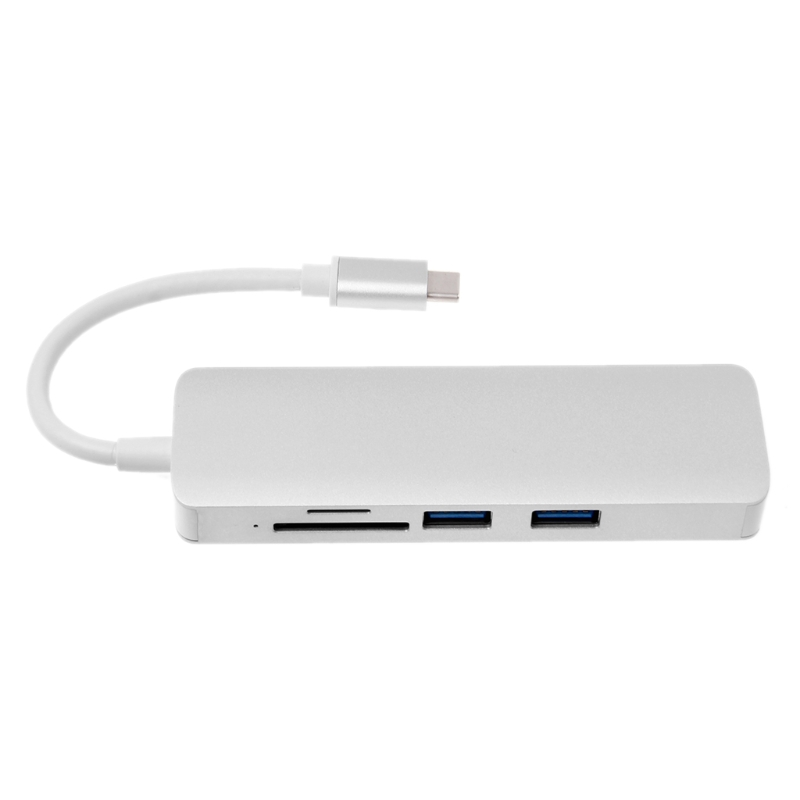 USB C Multi Function Adapter Type C To RJ45 Gigabit USB 3.0 Hub SD Micro SD Card Slot for MacBook Chromebook