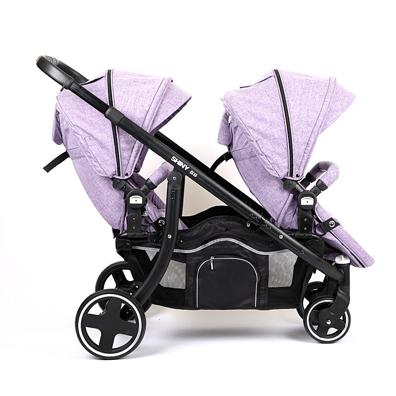 Luxury Baby Stroller Two Colour Four Wheels Two Seater