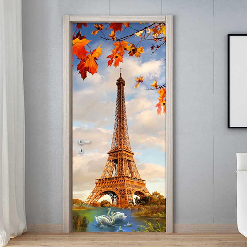 Modern Paris Tower Swan Lake 3d Wall Mural Wallpaper Beautiful Bedroom Living Room Door Sticker Pvc Waterproof Vinyl Wall Papers Wall Paper Vinyl Wall Paper3d Wall Murals Wallpaper Aliexpress