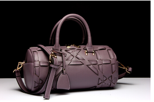 Fashion newest  genuine leather women's popular handbag  barrel-shaped small shoulder bag simple female messenger bag k-988325 popular sale genuine leather female casual fashion quilted handbag