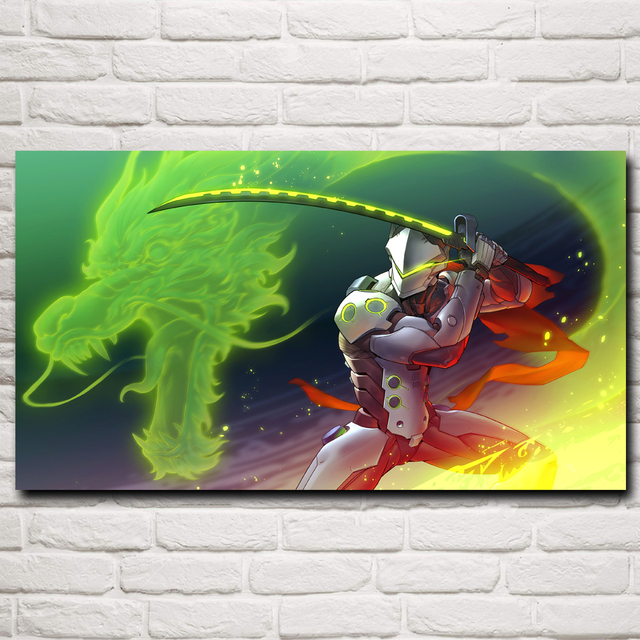 Over Watch Genji Sword Dragon Game Art Silk Poster Prints Home Decor Printing 11×20 16×29 20×36 24×43 30×54 Inch Free Shipping