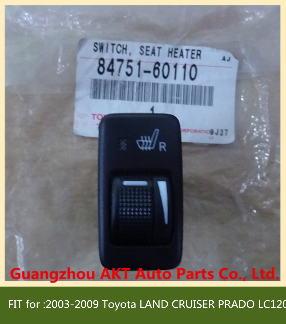 ФОТО SWITCH, SEAT HEATER fit for :2003-2009 Toyota LAND CRUISER PRADO LC120 OEM: 84751-60110 8475160110   Passenger Side