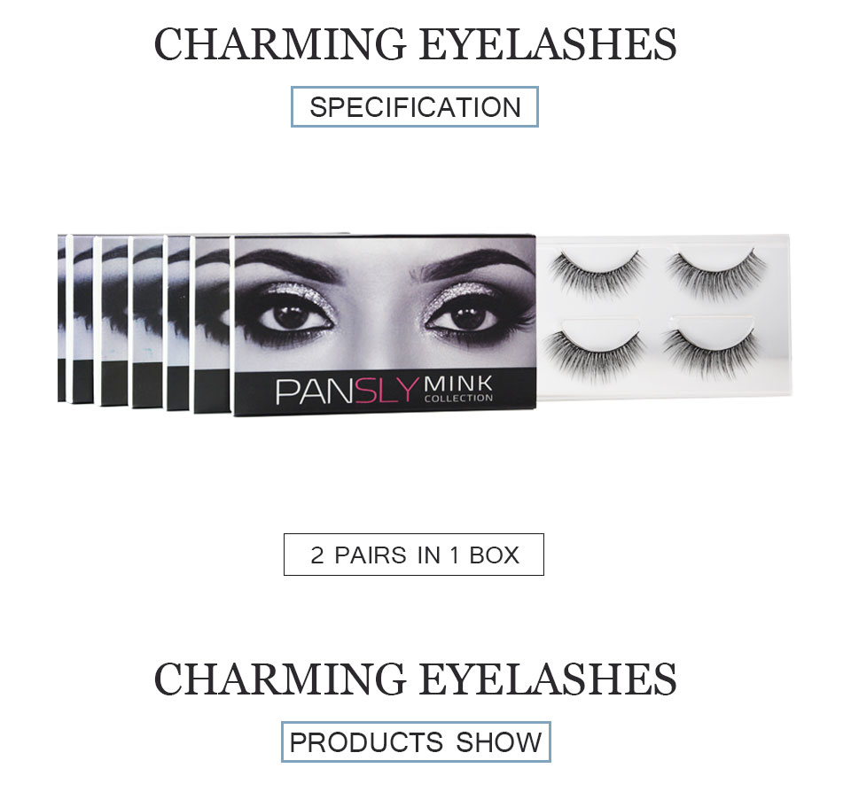 PANSLY Multipack Lashes Rzesy <font><b>Eyelashes</b></font> Bulk Private Label <font><b>Eyelashes</b></font> Fake Eye Lashes Pillow <font><b>Eyelash</b></font> Packaging Glue Lashes 2pairs image