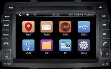 Wholesale!2 Din 7Inch Car dvd player audio stereo gps radio audio FIT KIA SORENTO 2010-2012 With 3G GPS BT IPOD FM RDS Autoradio