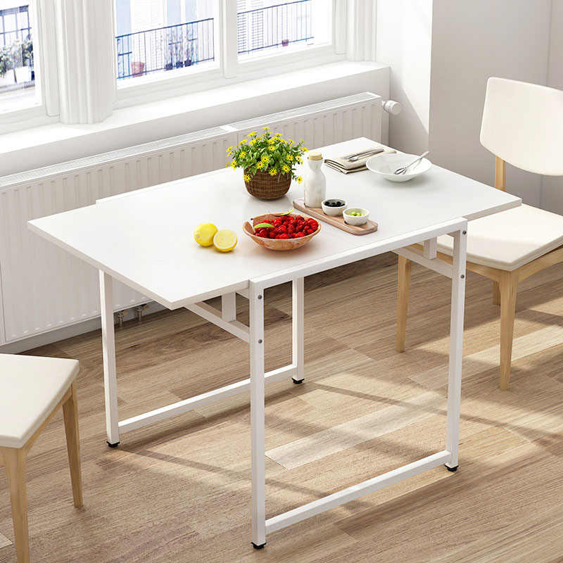 Dining table Wooden Particle board fashion living room folding table Square kitchen Six-person table Dining Room Furniture