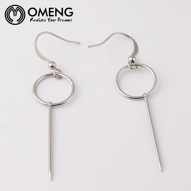 buy omeng minimalist cos hm circle pearl ear ring earring transparent glass bead earrings earrings female eh from reliable earrings