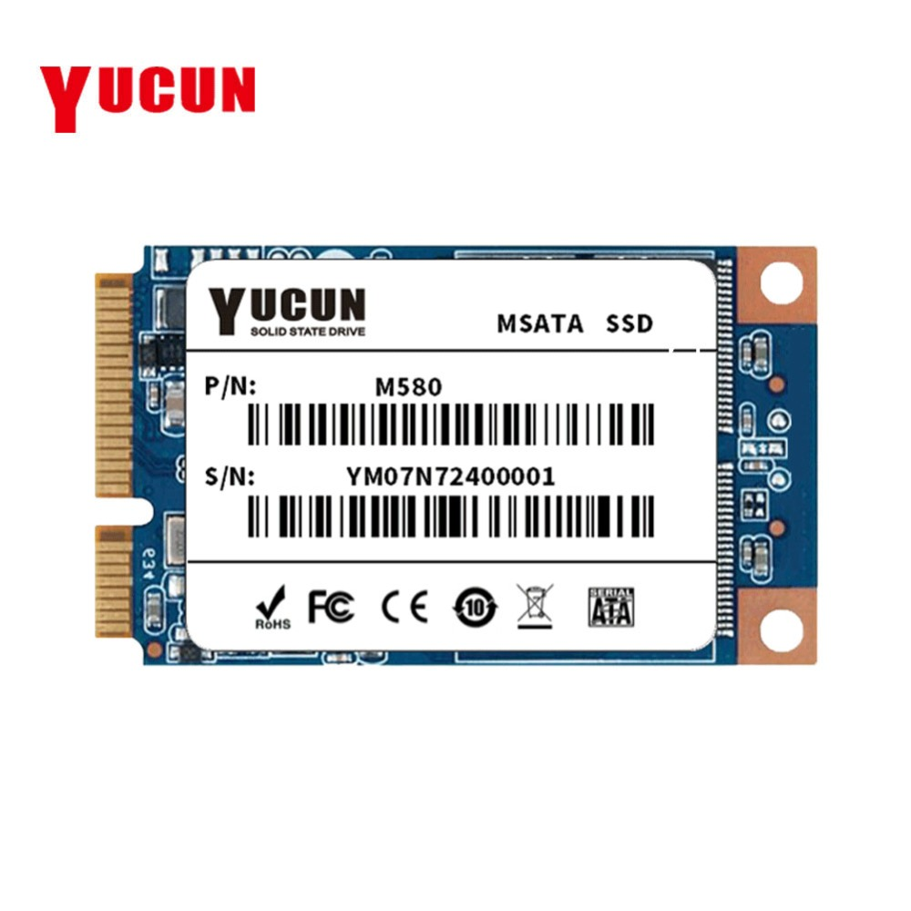 YUCUN MSATA SSD 60 GB 120 GB 240 GB Interne Solid State Drive PCIE SSD 64 GB 128 GB 250 GB 256 GB pour Tablet PC Ultrabooks ordinateur portable