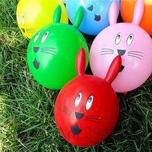Helium Balloon Rabbit head Balloons 30pcs Animal Ear Ball for Birthday Party Kids decoration Babyshower boy/girl