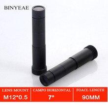 Lente cctv lente de 90mm m12, lente hd 1.0 megapixels, varredor de distância, montagem m12