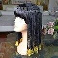 De calidad SUPERIOR!!! Reina de egipto Cleopatra Peluca con Flequillo Aseado pelo trenzado deluxe de halloween navidad pelucas Bobo