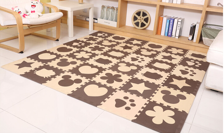 EVA Marjinaa Free shipping Pluse Mat 10 pcs Beige coffee FOAM MATS Exercise GYM Puzzle Soft EVA Marjinaa Free shipping Pluse Mat 10 pcs Beige coffee FOAM MATS Exercise GYM Puzzle Soft Tile Floor Kids Play Room
